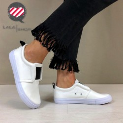 Sneakers Step bianche/nere