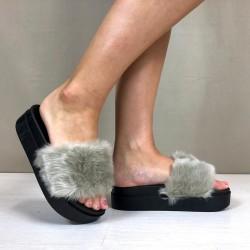 Ciabatte Eco Fur gray