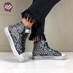 Sneakers piton rock nero