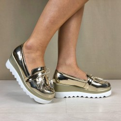 Mocassino Kelly gold