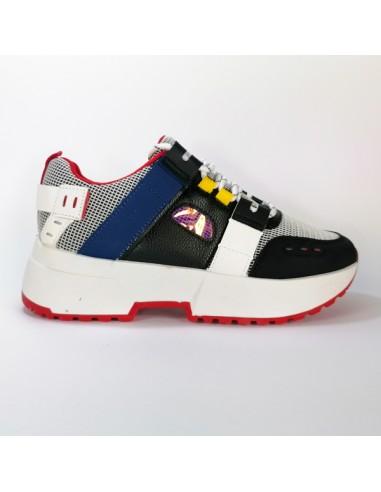 Sneakers Black Multicolor traforata...