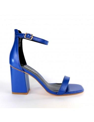 Sandalo Total BLUE tacco quadrato con...