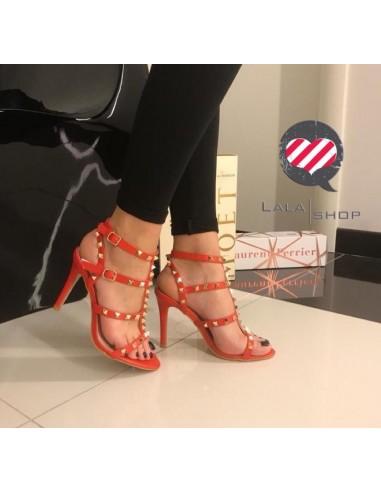 Sandalo tacco 10 cm rosso